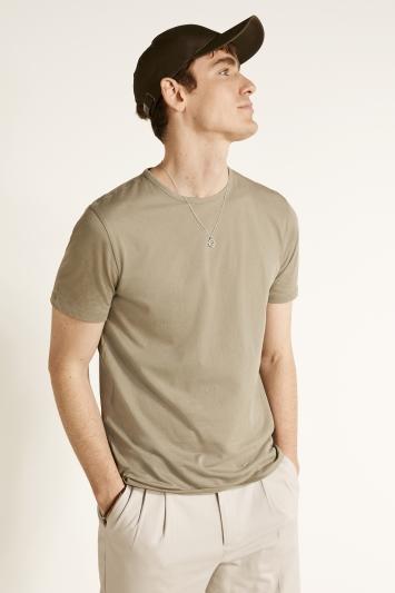 Vetiver Green Mercerised Crew-Neck T-Shirt