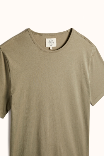 Vetiver Green Mercerised Crew-Neck T-Shirt