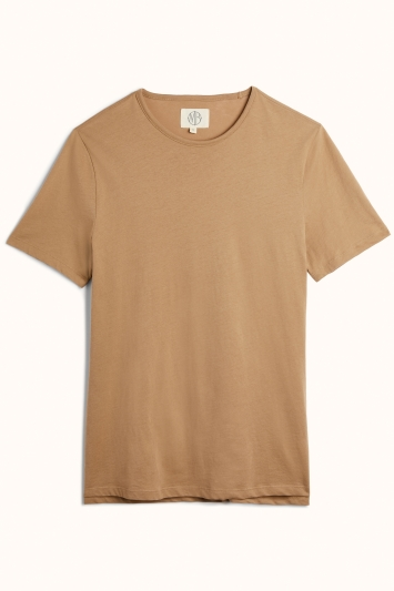 Light Camel Mercerised Crew-Neck T-Shirt