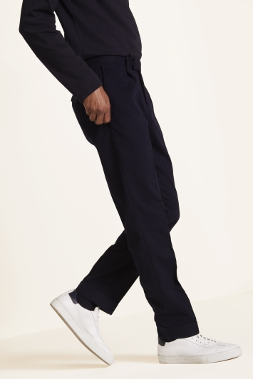 Moss 1851 Tailored Fit Dark Navy Trousers