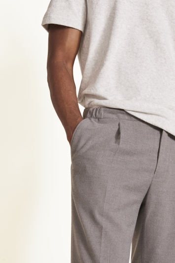 Moss 1851 Tailored Fit Grey Stripe Trousers