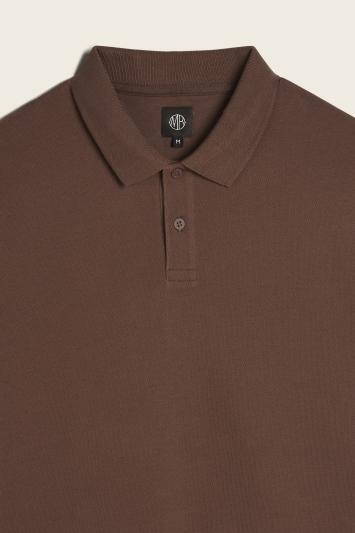 Brown Pique Polo Shirt