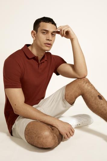 Paprika Red Pique Polo Shirt