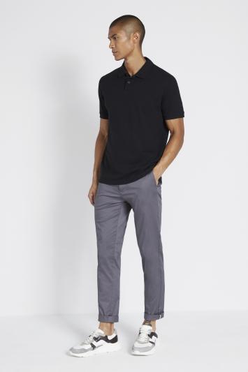 Black Pique Polo Shirt