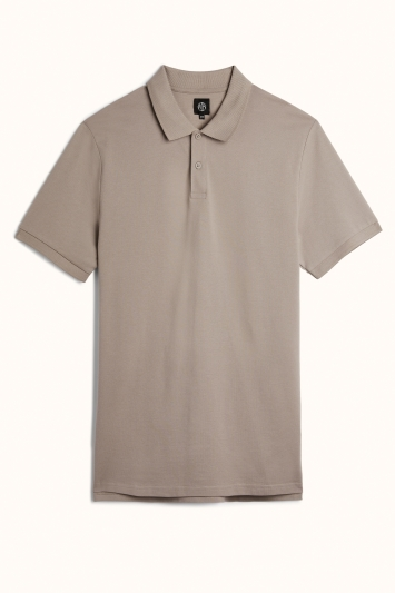 Granite Grey Pique Polo Shirt