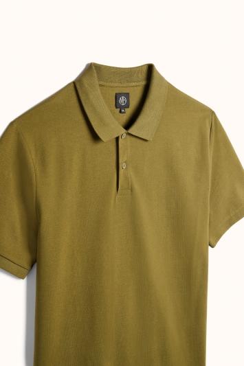 Olive Pique Polo Shirt