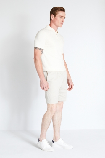 MB by Moss Bros Beige Chino Stretch Waistband Shorts