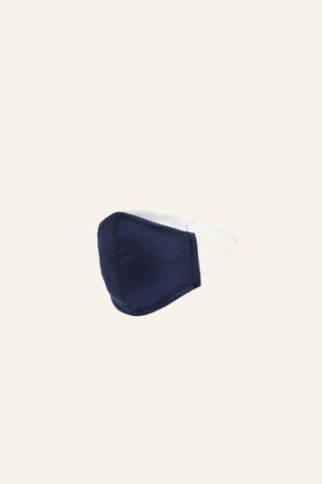 Navy Plain Natte Silk Mask