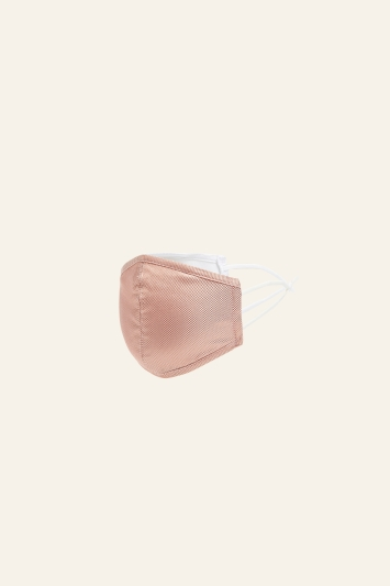 MB by Moss Bros Canteloupe Plain Natte Silk Mask