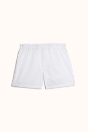 Plain White Cotton Poplin Woven Boxer Short
