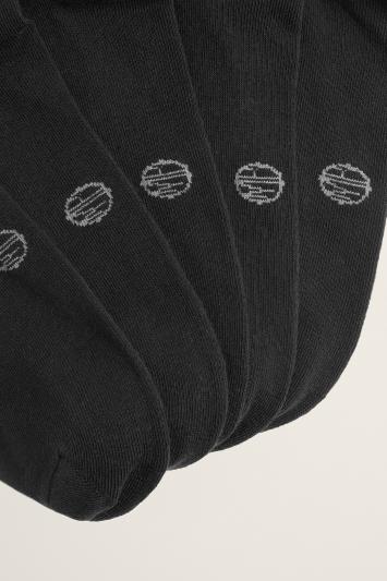 Black 5-Pack Cotton-Blend Socks