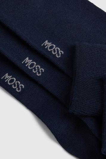Navy 3-Pack Bamboo Socks