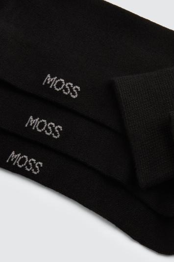 Black 3-Pack Bamboo Socks