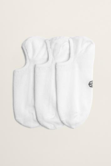 White 3-Pack Bamboo Trainer Socks