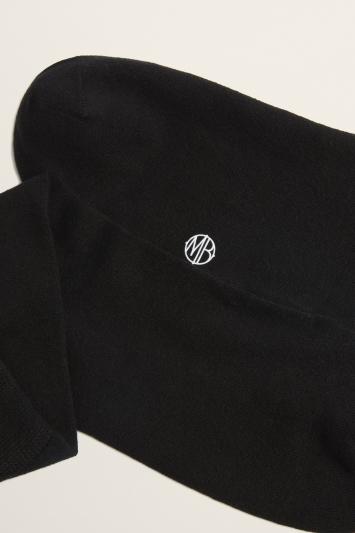 Black Silk Dress Sock