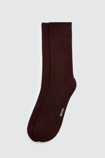 Plum Fine Ribbed Sock