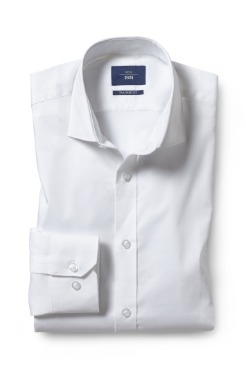 Tailored Fit White Stretch Shirt