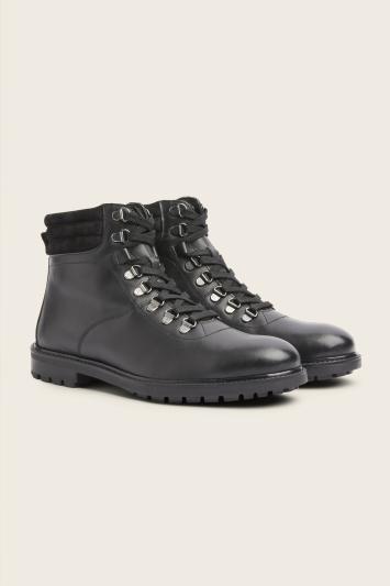 Moss Bros Farringdon Black Hiking Boot