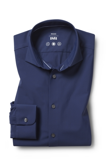 Tailored Fit Navy Performance Stretch Shirt