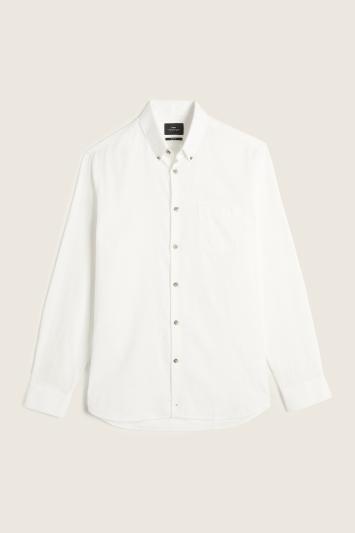Slim Fit Ecru Brushed Shirt