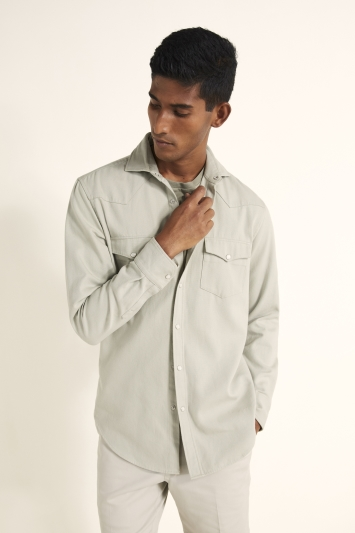 Tailored Fit Sage Western Shirt