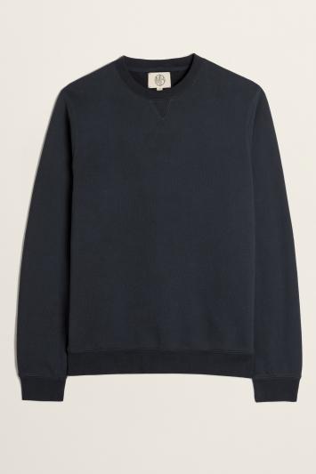 Navy Cotton Loopback Sweatshirt