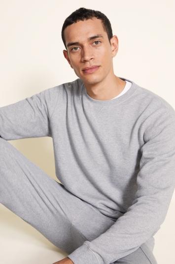 Grey Cotton Loopback Sweatshirt