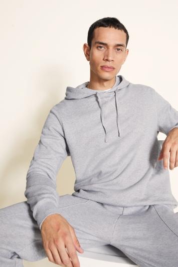 Grey Cotton Loopback Hoodie