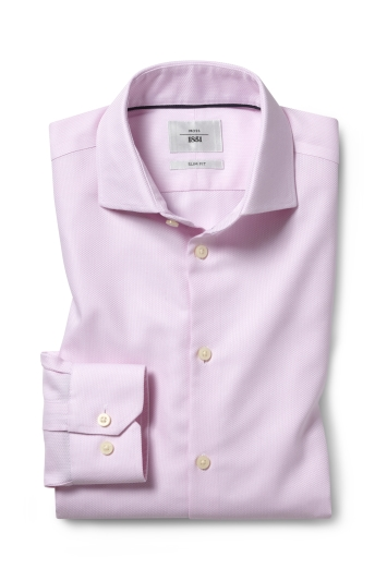 Slim Fit Pink Arrow Weave Zero Iron Shirt
