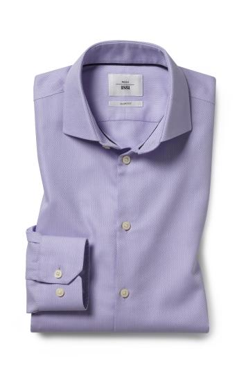 Slim Fit Lilac Arrow Weave Zero Iron Shirt