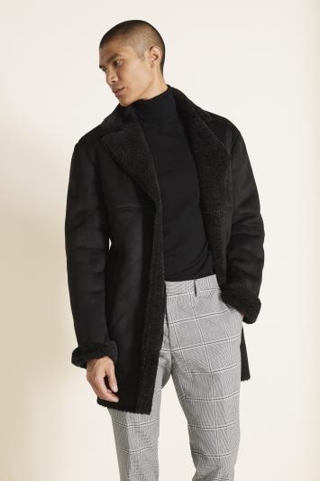 MB Black Faux Sherpa Jacket