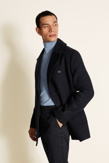 Moss 1851 Tailored Fit Navy Peacoat