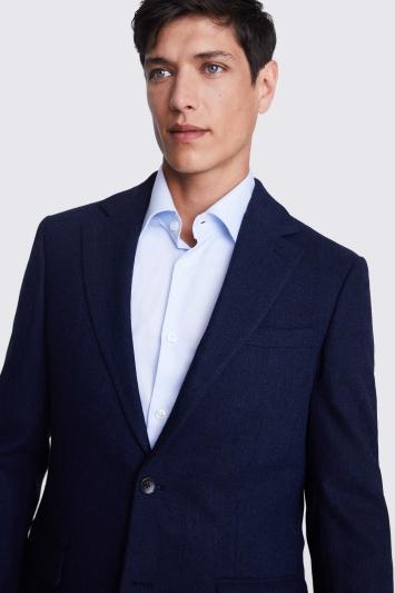 Moss 1851 Tailored Fit Ink Herringbone Jacket