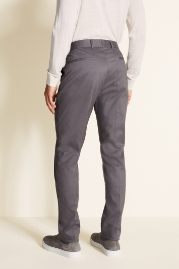 Moss London Slim Fit Grey Stretch Chino