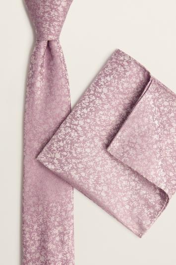 Pink Tonal Branch Tie & Hank Set
