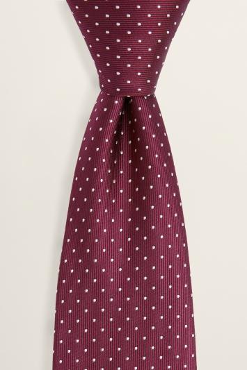 Burgundy with White Pindot Tie