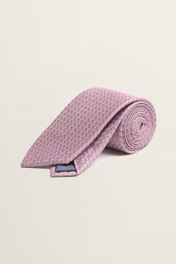 Pink Semi-Plain Silk Tie