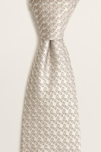 Champagne Semi-Plain Silk Tie