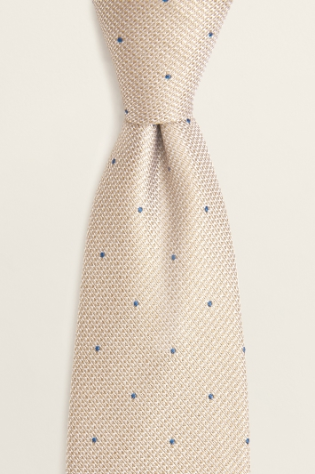 Champagne Contrast Spot Silk Tie