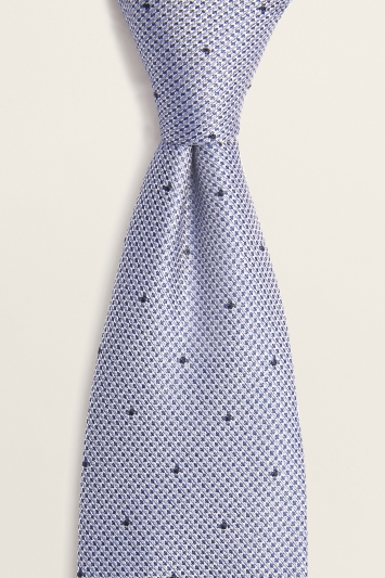 Blue Contrast Spot Silk Tie