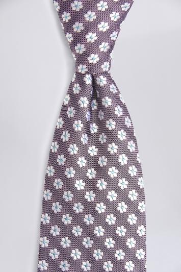 Pink Floral Geo Silk Tie
