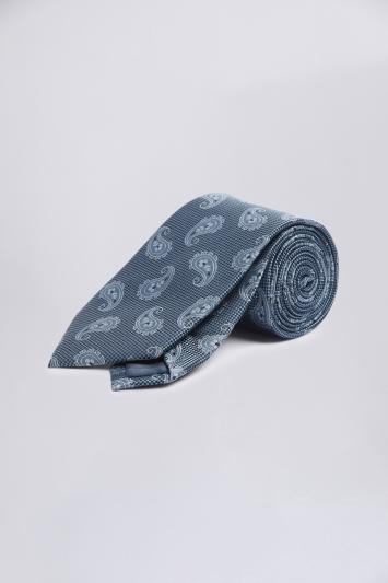 Navy Tonal Paisley Silk Tie