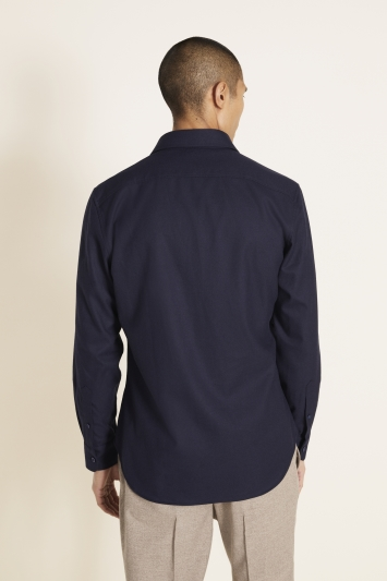 Tailored Fit Navy Overshirt