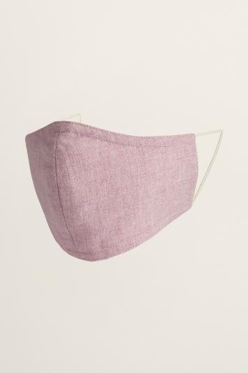 Pale Pink Herringbone Mask