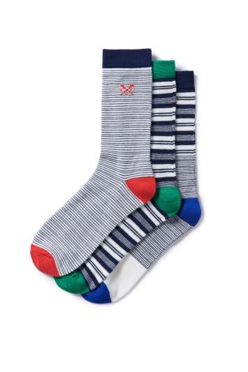 Crew Clothing Navy Stripe Socks