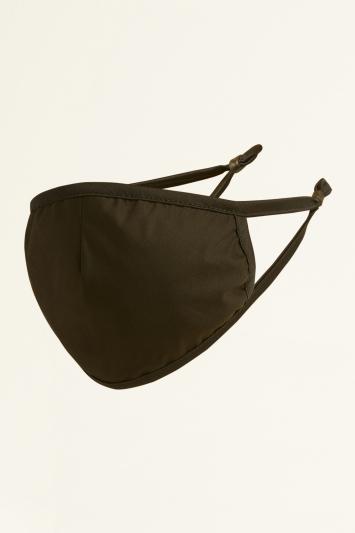 Moss Black Plain Cotton Mask