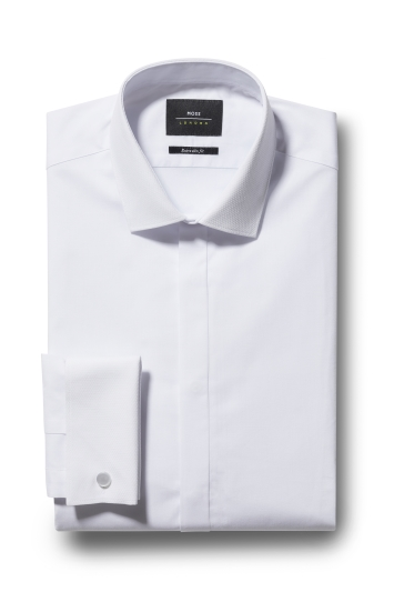 Extra Slim Fit White Dobby Dress Shirt
