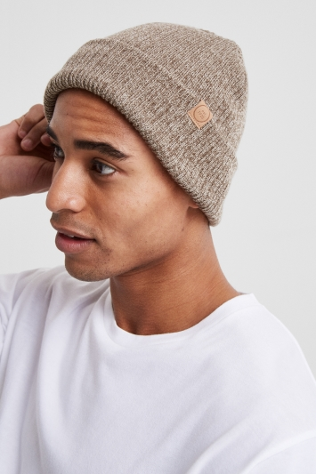 Moss 1851 Fawn Ribbed Beanie