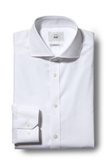 Tailored Fit White Zero Iron Shirt