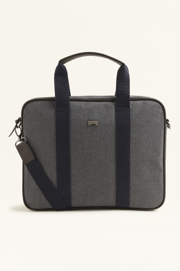 Ted Baker Runaway Grey Marl Nylon Document Bag